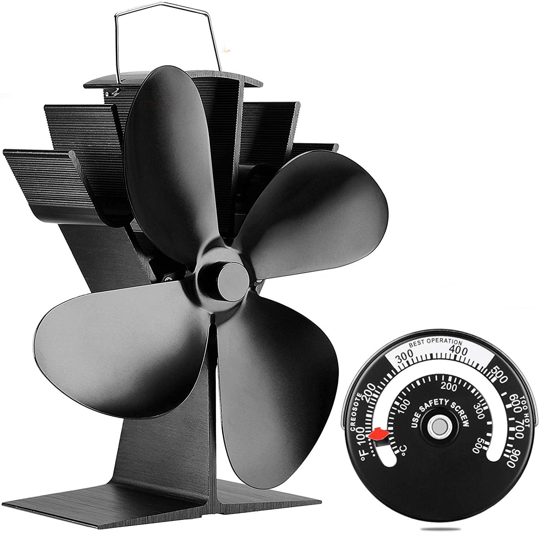 heat powered best wood stove fan